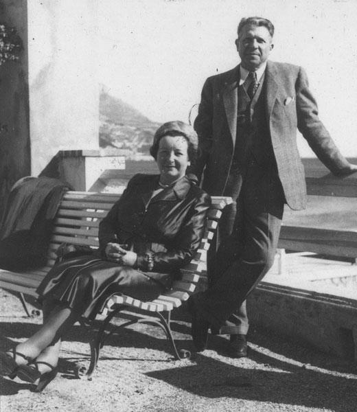 Pierre et Gabrièle Vérots en 1950